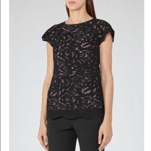 Reiss Tops - REISS Sol Black Lace Top🦋