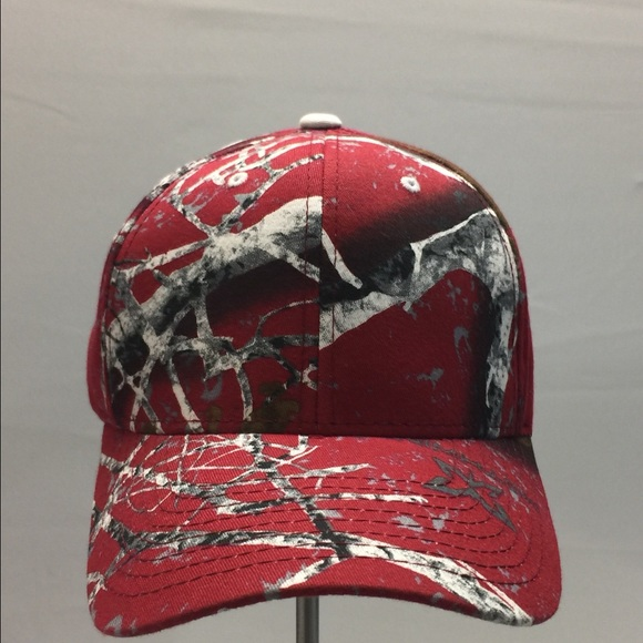 pretty nice 2bb26 5d390 Red multi color camouflage cap by Zephyr