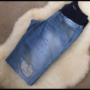 GAP Denim - Gap Maternity Real Straight Distressed Jeans