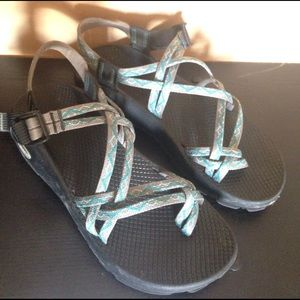 Chacos Shoes - Double strap chacos: GRAY. Lower on Merc