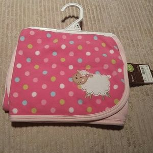 Carters Baby blanket with Lamb on front