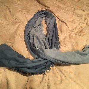 Blue acrylic scarf