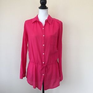 C&C California Tops - C&C California Pink Button Front Tunic Top Size S