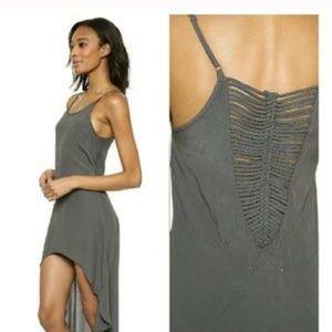 Cleobella Dresses & Skirts - 🆕 CLEOBELLA XS high-low charcoal grey midi dress