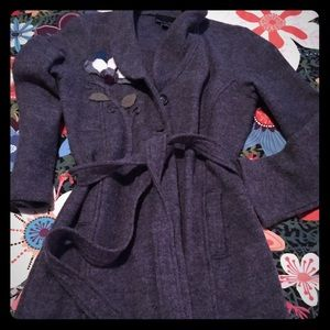 Gray belted cardigan from Cynthia Rowley