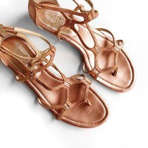 Ivanka Trump Shoes - Ivanka trump rose gold jewel gladiator sandals