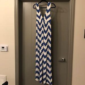 J. Crew Dresses & Skirts - J. Crew Blue & White Size M Maxi Dress!