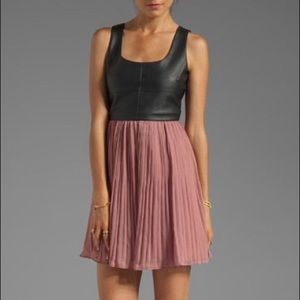 Jack by BB Dakota Dresses & Skirts - New!!! Jack BB Dakota pink black leather dress