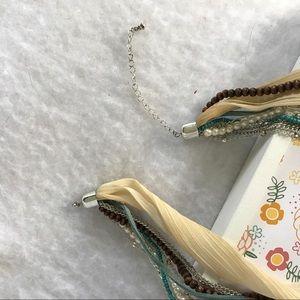 Jewelry - Multi pearl,  ribbon & chain 🎀 necklace