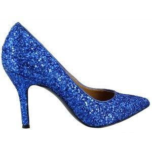 23c7869bfa34 Nine West Shoes - NEW Nine West 'Flax' Blue Electra-IP Glitter Pumps