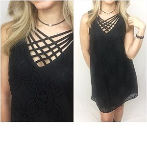 Dresses & Skirts - Lovely Lined Lace LBD Tunic Slip Dress SM