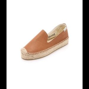 Soludos Shoes - Cognac Leather Soludos Espadrilles ...size 7