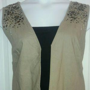 Moda by George Tops - MODA Studded Vest
