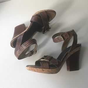 Franco Sarto Shoes - Leather sandal heels