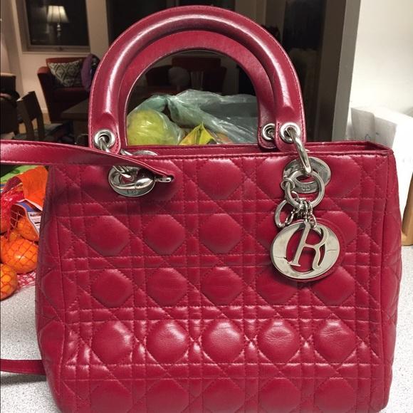 Christian Dior Handbags - Christian Dior lady Dior red carnage dd57ee7f15089