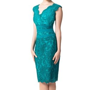 Tadashi Shoji Dresses & Skirts - Tadashi Shoji Blue Green Lace Cocktail Dress 0 XS