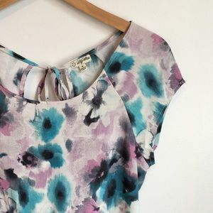 Lily White Tops - LILY WHITE | Floral Blouse NWOT