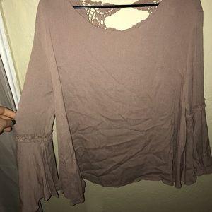 Mauve open back blouse