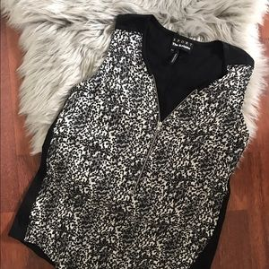 The Kooples Tops - The Kooples Silk zip leopard tank