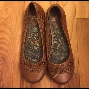 Hot Kiss Shoes - Brown flats