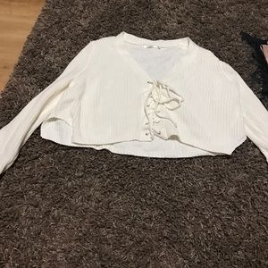 LF stores Sweaters - LF lace up sweater