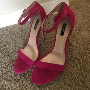 Shoemint Shoes - Hot Pink strappy Heels Never worn!