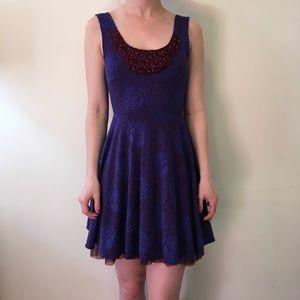 Free People Dresses & Skirts - Free People Purple Red Skater Sleeveless Dress