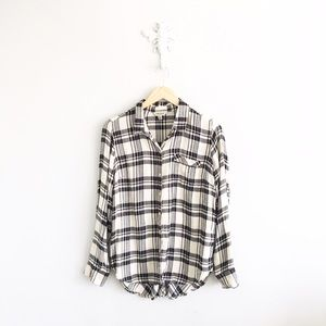 Lucky Brand Tops - Lucky Brand Plaid Button Back Flannel Tunic Top