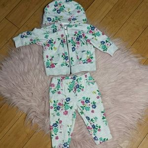 Carter's Other - Baby floral pants and jacket