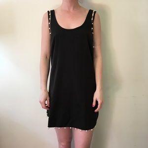 NBD Dresses & Skirts - NWT NBD Black Distance Pearl Shift Dress