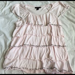Style & Co Tops - fun sparkly style & co pink top size M