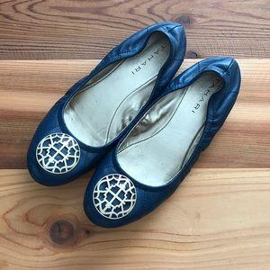 Tahari Shoes - Tahari Embellished Leather Navy Blue Flats Size 6