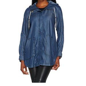Isaac Mizrahi Jackets & Blazers - Denim hooded jacket size xsmall