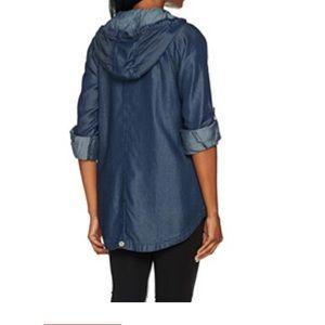Isaac Mizrahi Jackets & Blazers - Denim lightweight hooded jacket xsmall