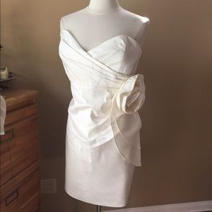 Eliza J Dresses & Skirts - Eliza J Ivory Silk Dress