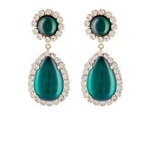 Kenneth Jay Lane Jewelry - Kenneth Jay Lane Crystal Double Drop Earrings