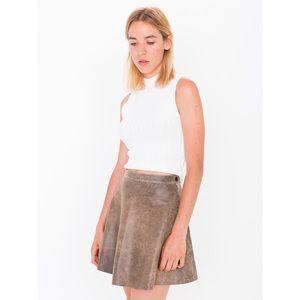 American Apparel Distressed Lambskin Circle Skirt