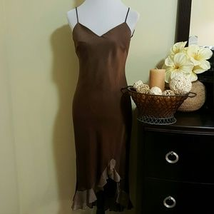 Onyx Dresses & Skirts - Brown sheer cocktail dress