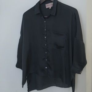Nordstrom High Low Button Down 3/4 Sleeve EUC