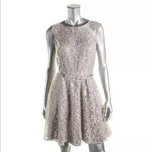 Betsy & Adam Dresses & Skirts - Betsy&AdamSilver Lace Prom/ Semi Formal Dress 10P