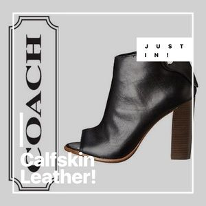 COACH Labelle Leather Booties