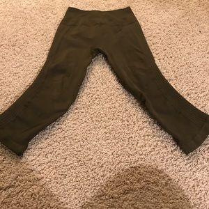 lululemon athletica Pants - Lululemon Flow and Go Military Green Crops
