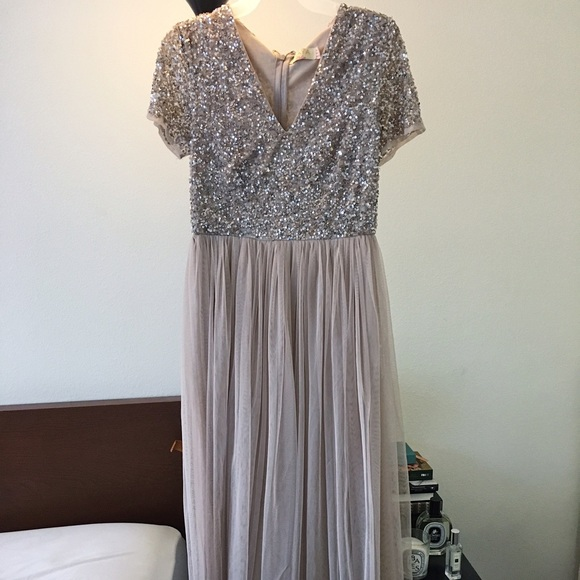 1d84cafa ASOS Dresses & Skirts - Maya VNeck Maxi Tulle Dress with Sequins from Asos