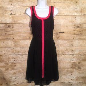 Nicole by Nicole Miller Dresses & Skirts - Nicole by Nicole Miller Black Crochet Hi Low Dress