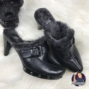 Stuart Weitzman Shoes - Stuart weitzman slip on fur mule