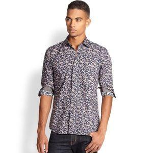 Bugatchi Other - Bugatchi navy 'Shaped Fit' shirt