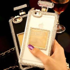 Accessories - iPhone Perfume Bottle Case Cover with Chain