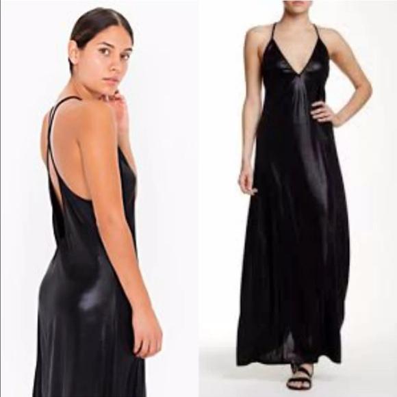Nitro American App Dresses Salesexy Black Metallic Maxi Dress