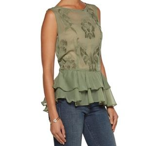 W118 by Walter Baker Tops - NWT Walter Baker army green Gabby Top