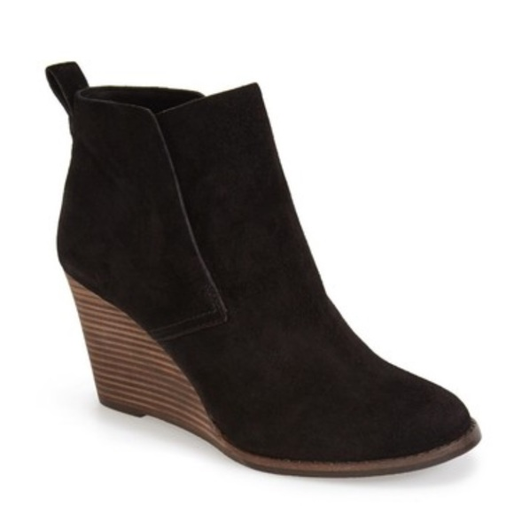 9a56e5feced6 NEW Lucky Brand  Yoniana  Wedge Bootie - Black
